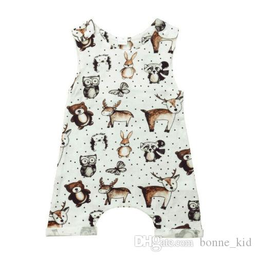 524c86ef0074 2019 Newborn Baby Boys Girls Animal Sleeveless Romper Jumpsuit Summer  Casual Pajamas Clothes Outfitts Owl Hedgehog Baby Clothing Toddler 0 24M  From ...