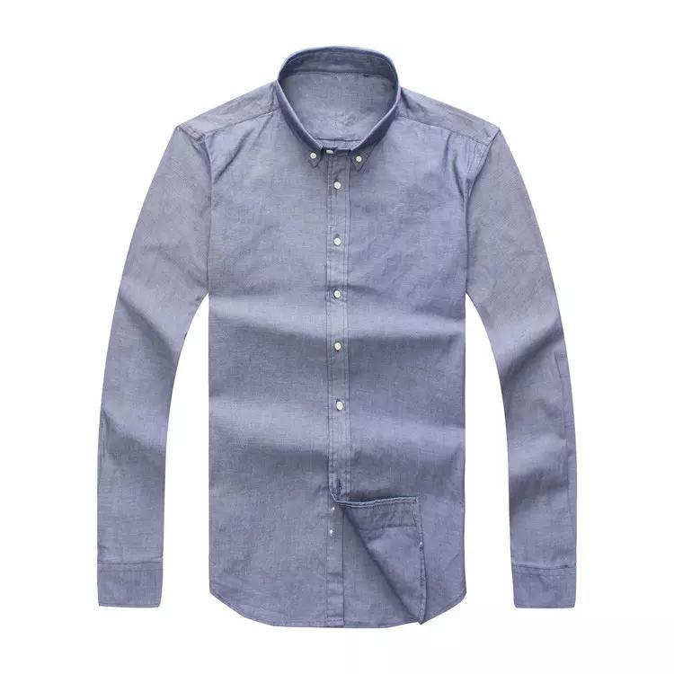 Drop Shipping 2019 à manches longues Slim Fit Hommes d'automne Chemises hommes Etats-Unis Marque Polos Mode 100% Oxford Casual Shirt Vêtements Petit cheval