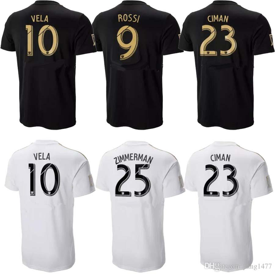 2018 LAFC Soccer Jersey Home Black Away White MLS Los Angeles FC Soccer  Shirt GABER ROSSI VELA CIMAN ZIMMERMAN Customized Football Uniform Canada  2019 From ... 521ba6b68