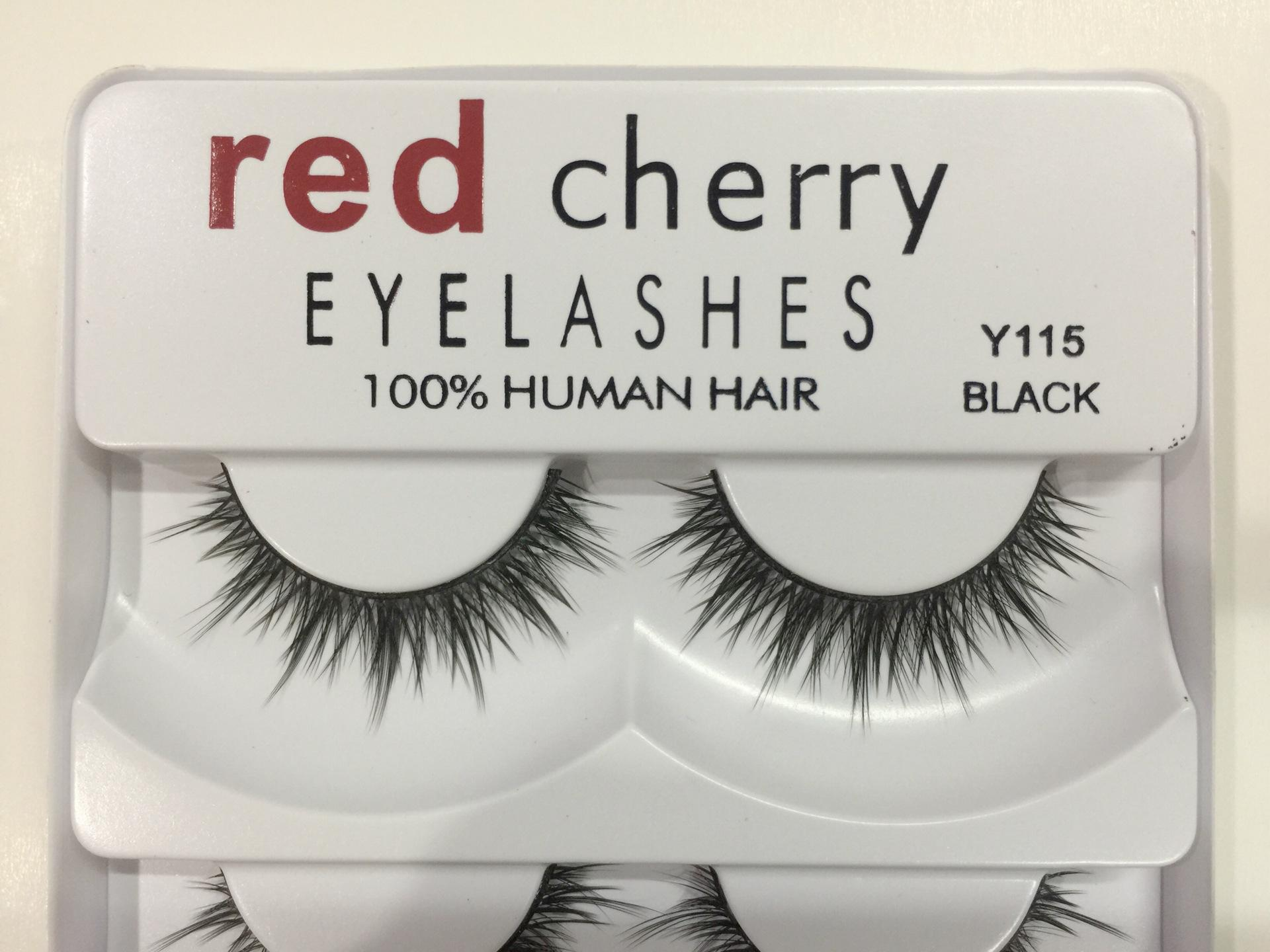 False Eyelashes 100% Human Hair Red Cherry Fake Lashes each set Black color 8 styles available DHL Free