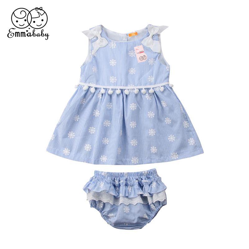 134af7c78442 2019 Emmababy Newborn Baby Girl Clothing Summer Snow Print Tassel ...