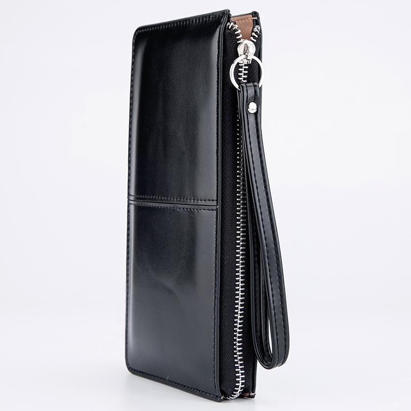 النساء محافظ كاندي النفط جلد محفظة تصميم طويلة يوم مخلب عارضة سيدة النقدية محفظة المرأة حقيبة اليد carteira الأنثوية HQB1673