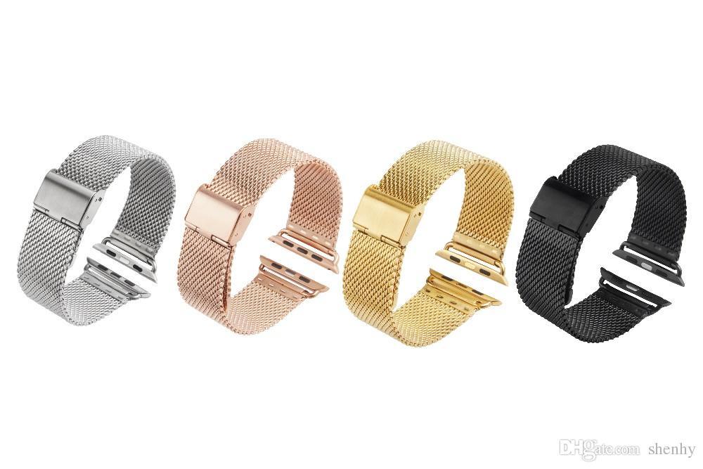 السوار الأصلي للربط حزام Milanese الحلقة السوار شريط فولاذي غير قابل للصدأ ل apple watch 38/40 / 42mm ساعة Band for iWatch series 1 2 3 4