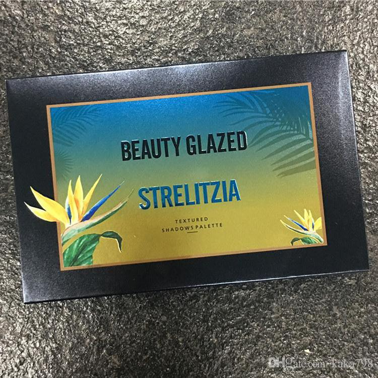 Beauty Glazed Strelitzia Eyeshadow Bird of Paradise Textured Shadow Palette Natashas Style 15 Color Stage Makeup Eye Shadow free shipping
