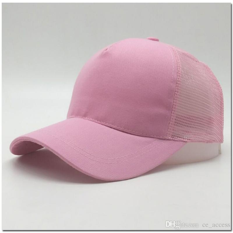 2018 hot mulheres rabo de cavalo chapéu de beisebol moda menina softball chapéus de volta buraco boné de beisebol de rabo de cavalo barato chapéu de sol