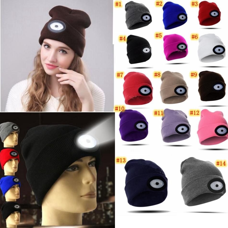 LED Headlamp Beanie Cap Rechargeable Lighted Hat With LED Head Flashlight  For Outdoor Evening Sport Fishing Camping MMA693 Ladies Hats Crazy Hats  From ... 5fc3c5841d53