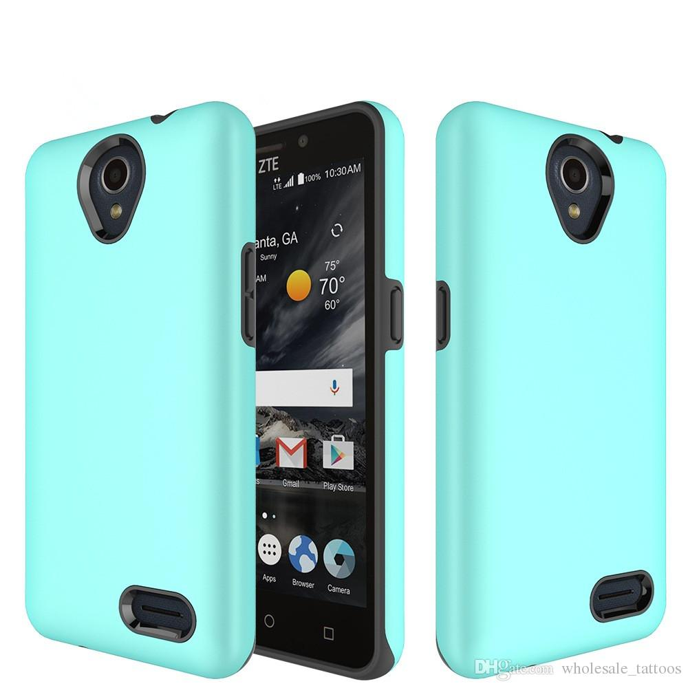 super popular b4764 7754c Armor Phone cases For Coolpad Defiant 3632A Alcatel A30 Fierce A30 Plus  REVVL Walters Hybrid hard PC soft TPU Silicone Case Full Body Cover