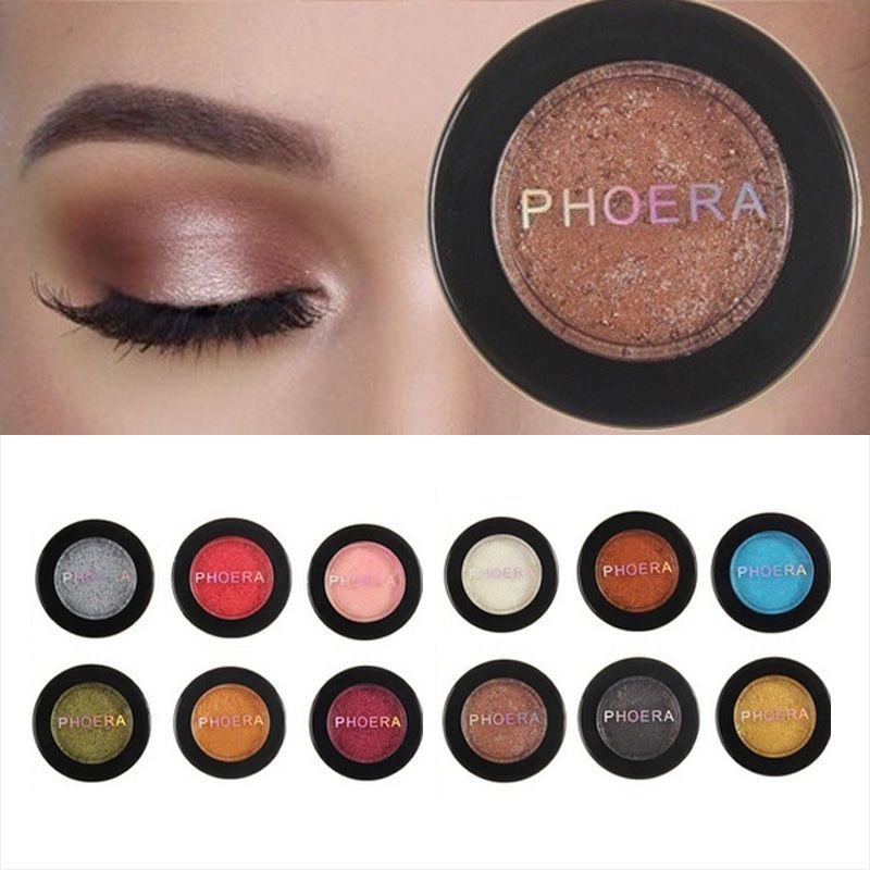 Phoera Super Vibrant Eyeshadow Metallic Glittermatte Shimmer Eye