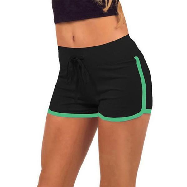9b2d64fb2b10 Feitong Summer 2018 Mujeres Pantalones cortos Entrenamiento Pretina Skinny  Pantalones cortos elásticos Mezcla de algodón suave Moda Solid New ...