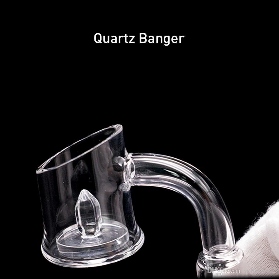 New Core Reactor Quartz Banger dab nail Evan shore with power gear insert For all dab oil rigs glass water bongs