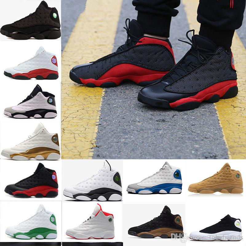 888b20ab9e0 2018 Cheap Men 13 Basketball Shoes Altitude 95 Black Cat Bred Black Red  White DMP GS Bordeaux Hyper Royal Wheat Sports Shoes 41 47 US5.5 13 Walking  Shoes ...