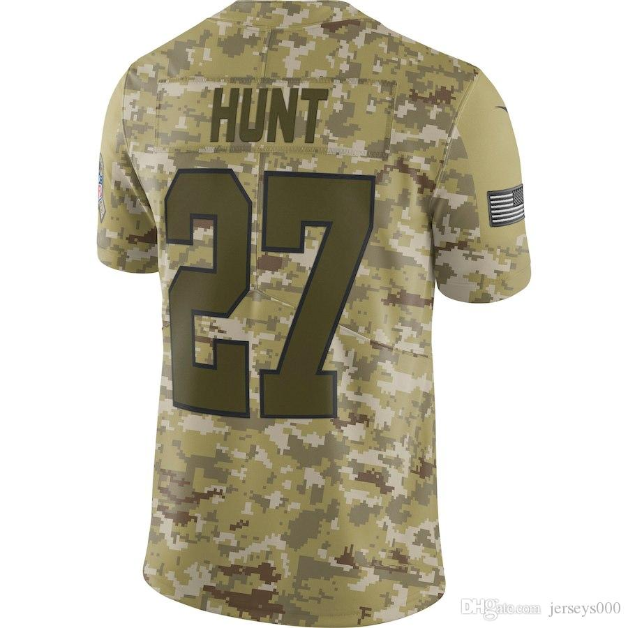 2018 Customized Camo Salute To Service Limited Jersey American Football  Jerseys Kansas City Chiefs Kareem Hunt Authentic Cheap Teams Afc From  Jersey000 67eab4266