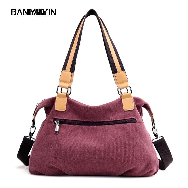 360a833e3e New Women Shoulder Crossbody Bag Big Casual Tote Canvas Women Messenger  Bags Vintage Color Quality Handbags 41x12x21 Cm Cute Bags Purses For Women  From ...