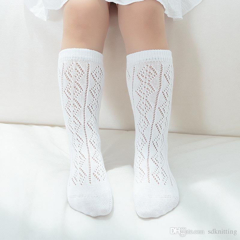 a9dc2b859 Baby Girls New Born Knee High Socks Baby Boy Thin Mesh Summer White Gray  Knee Socks 0 8T Wicking Socks Online Shopping Socks From Sdknitting, $1.37|  DHgate.