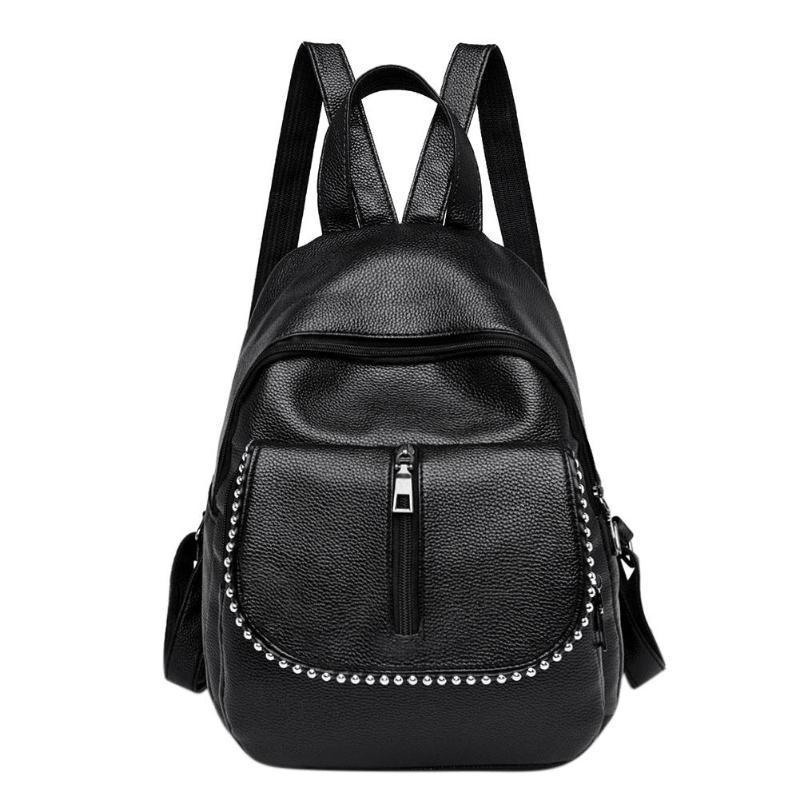 9700978d2d Punk Women PU Leather Rivets BackpacGirls Travel Shoulder Book Schoolbag  Best Backpacks Girls Backpacks From Keviney