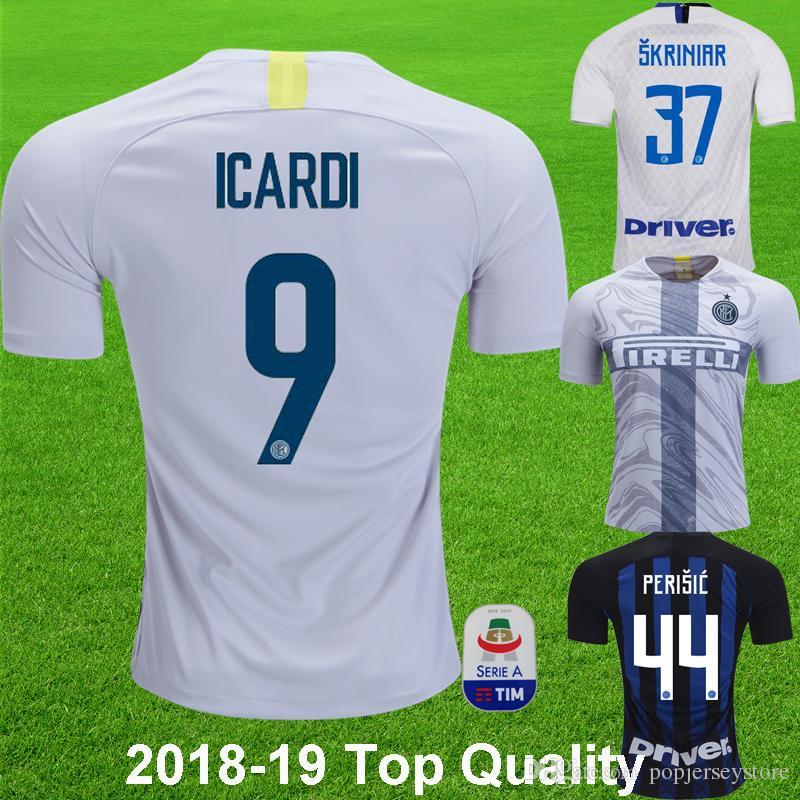 a7e1e873f 2019 2018 19 ICARDI  9 Home Soccer Jersey J. MARIO KARAMOH EDER Away White  Football Shirt PERISIC CANDREVA Camisa De Futebol Soccer Shirts From ...