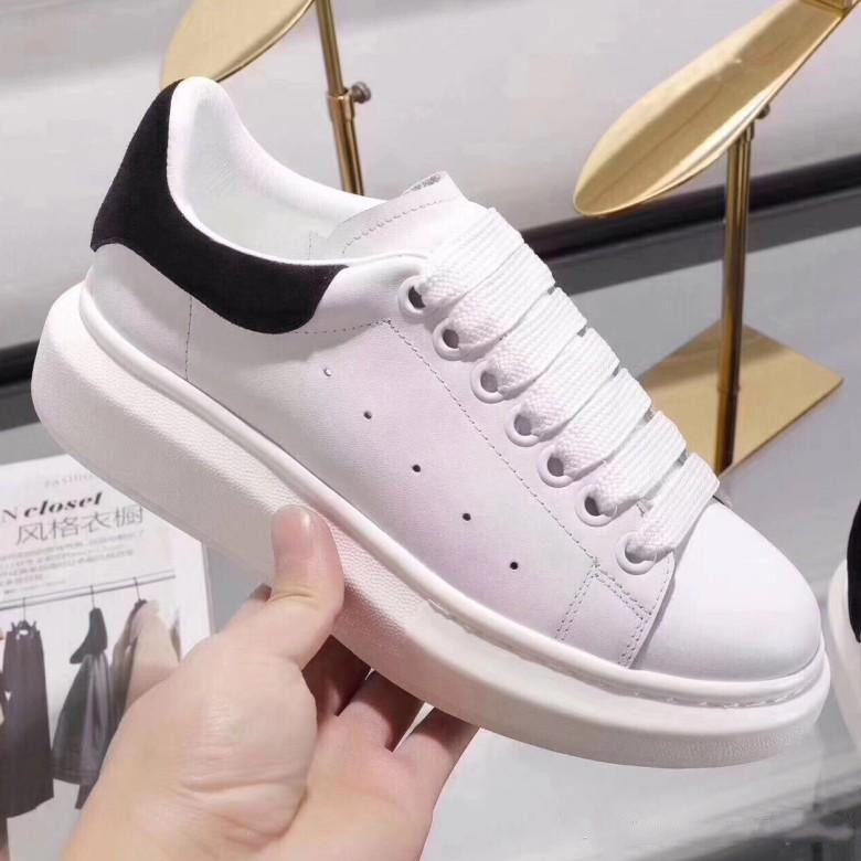 new concept d72db 8deac Alta qualità delle donne di moda in pelle bianca di lusso marrone  piattaforma scarpe piatte Designer Lady Black scarpe da ginnastica bianche  per le ...