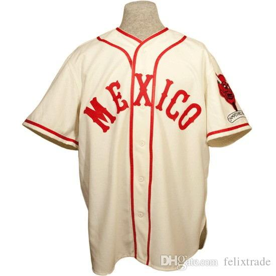 058b376971f 2019 Mexico City Red Devils 1957 Home Jersey Stiched Name   Number   Logos Baseball  Jersey For Men Women Youth From Felixtrade