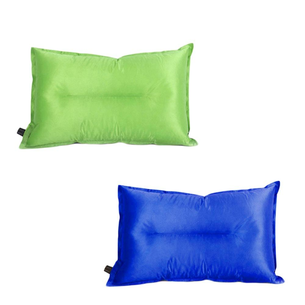 Outdoor Travel Carry Foldable Automatic Inflatable Air Cushion Neck Pillow  High Resilient Sponge Soft Sleeping Slumber Pillow Affordable Patio  Furniture ...