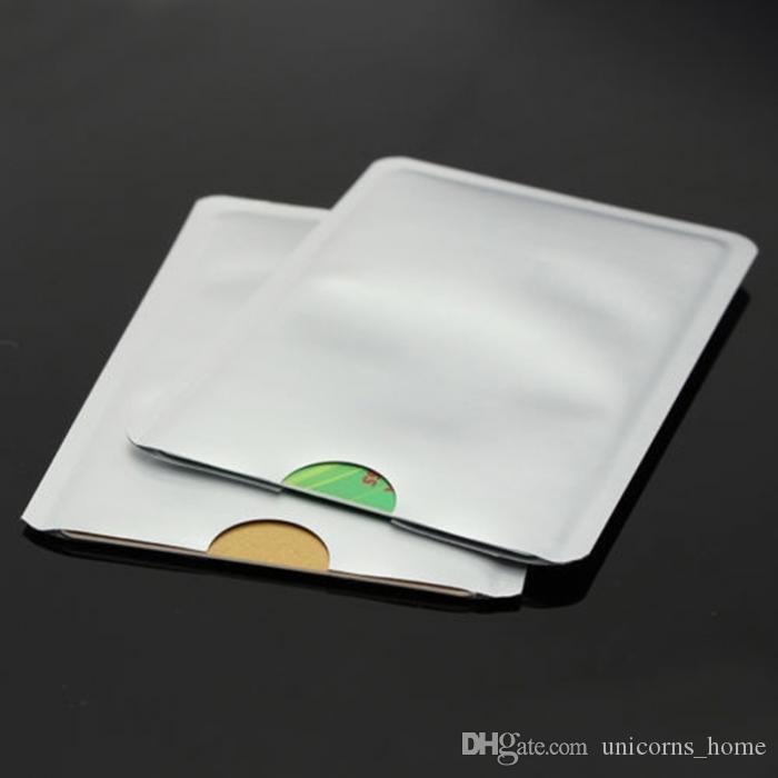 RFID Engelleme Kollu Kredi Kartı Pasaport Sahipleri Durumda Anti-hırsızlık Su Geçirmez Yumuşak Banka Kılıfı 2000 Adet Saklama Torbaları CNY167