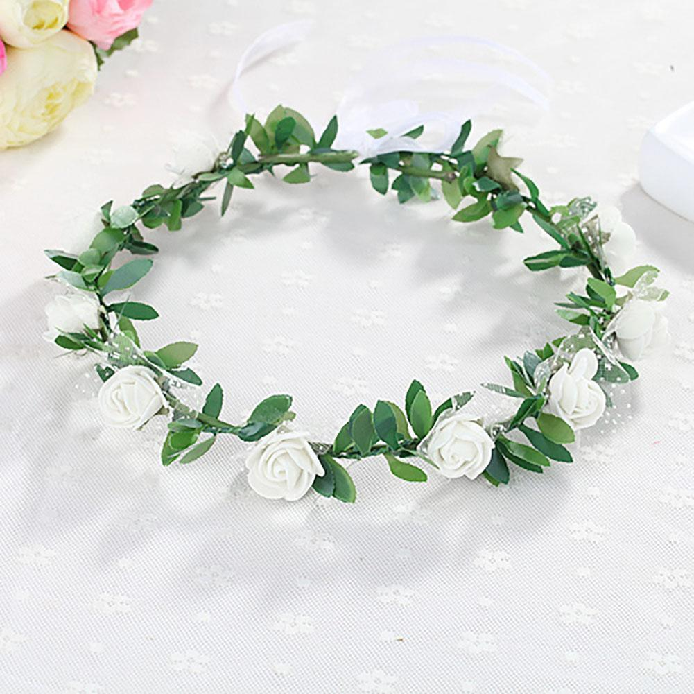 Bride Flower Crown Headpiece Handmade Delicate Head Wreath Wedding