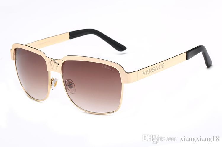 14dd0970f Compre Alta Qualidade Piloto Clássico Óculos De Sol Designer De Marca Dos  Homens Das Mulheres Óculos De Sol Eyewear Ouro Metal Verde 52mm 60mm Lentes  De ...