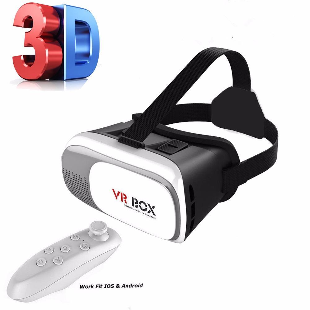 5a658ab19c206 Compre DJYG VR Box 2.0 Óculos De Realidade Virtual VR Headset 3D Com  Controle Remoto Gamepad Set De Sibyle