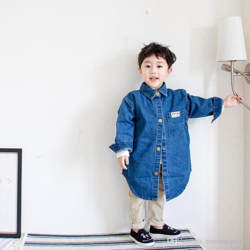 dae323a4e Baby Boy Denim Jacket 2018 Spring Autumn Kids Jacket Windbreaker For ...
