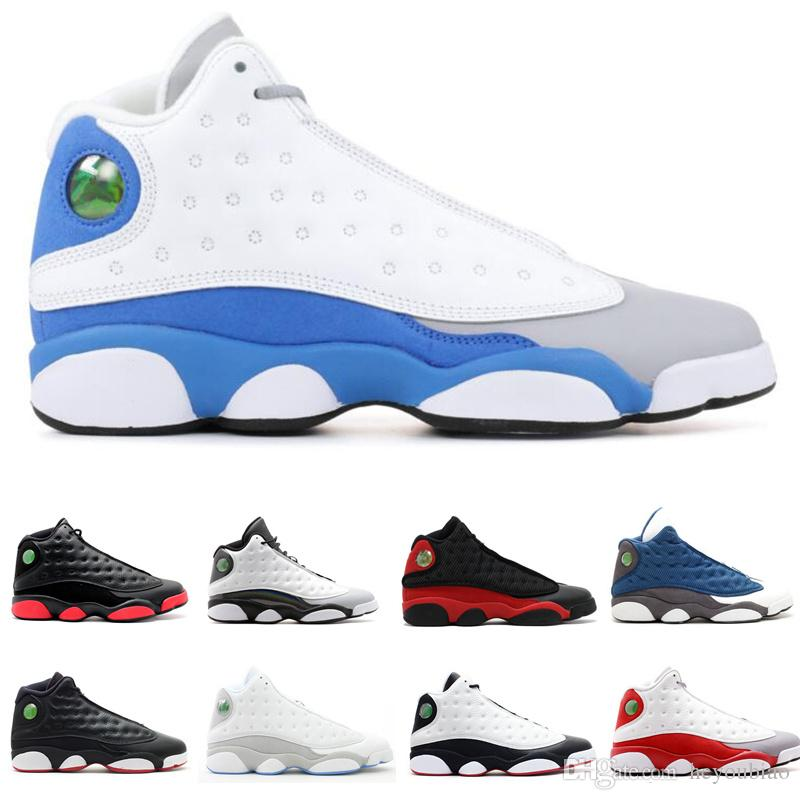 official photos f9efe 77ce8 Italy Blue Dirty Bred 13s mens basketball shoes sneakers Barons grey toe  outdoor sports athletic trainer He Got Game 13 INFRARED 23