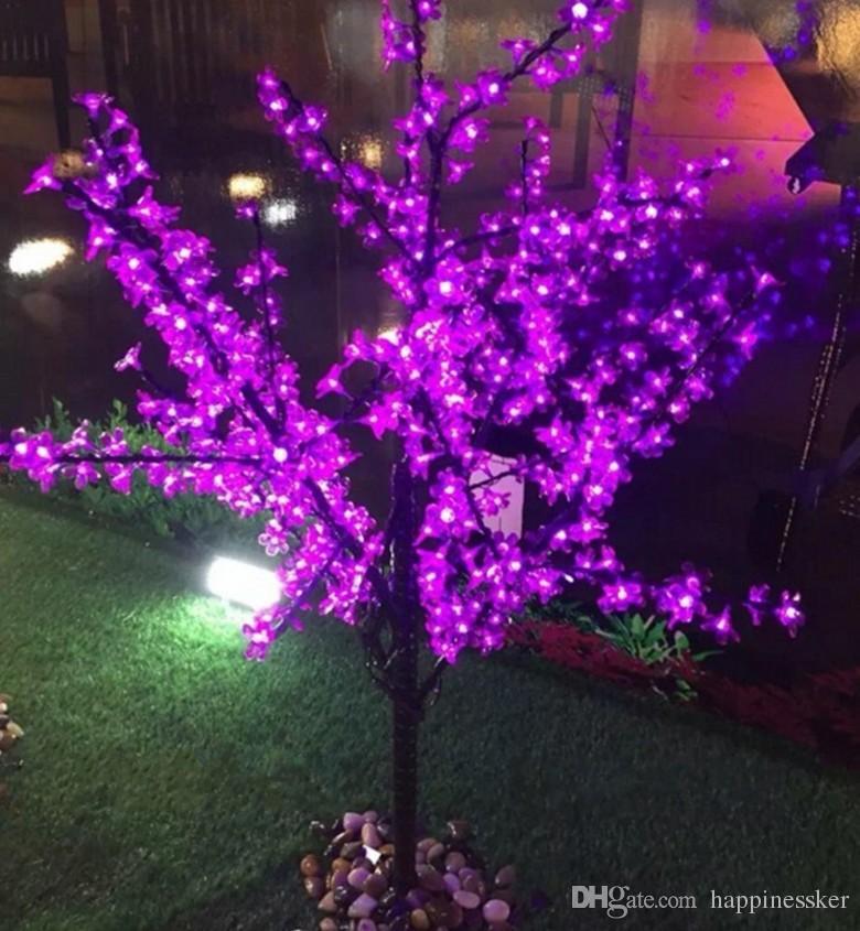 LED waterproof outdoor landscape garden peach tree lamp simulation 1.5 m 480/ 576 lights LED cherry blossom tree lights garden decoration