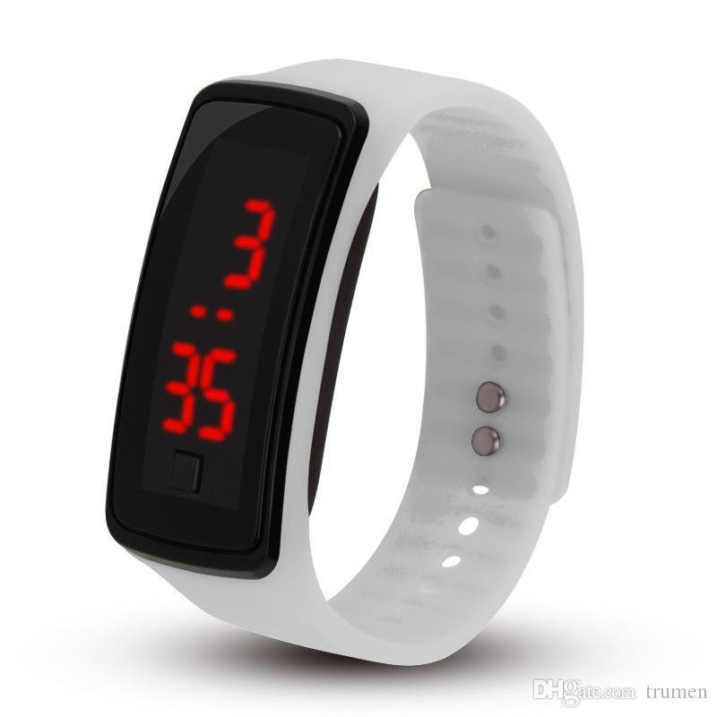 2019 Fashion Men Women Rubber Date Led Watch Sports Digital Fashion Bracelet Wrist Watch Watches
