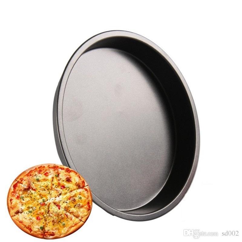 Pizza in acciaio al carbonio Piastra antiaderente Rotonda Pizza Bakeware Strumento di cottura in cucina Alta qualità 3 4am C R