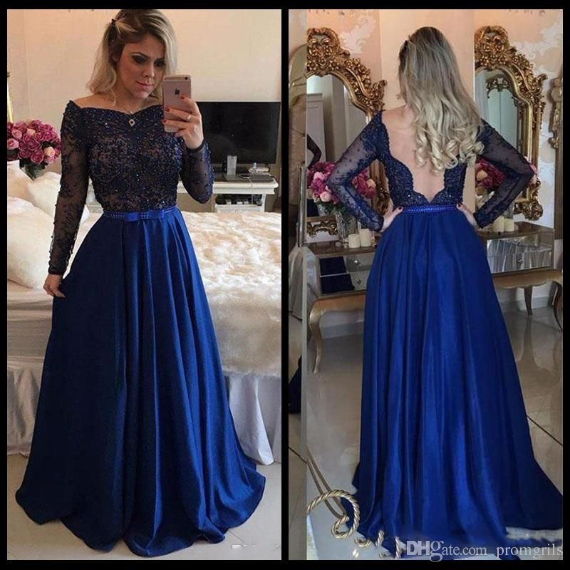 Floor Length Blue Dress