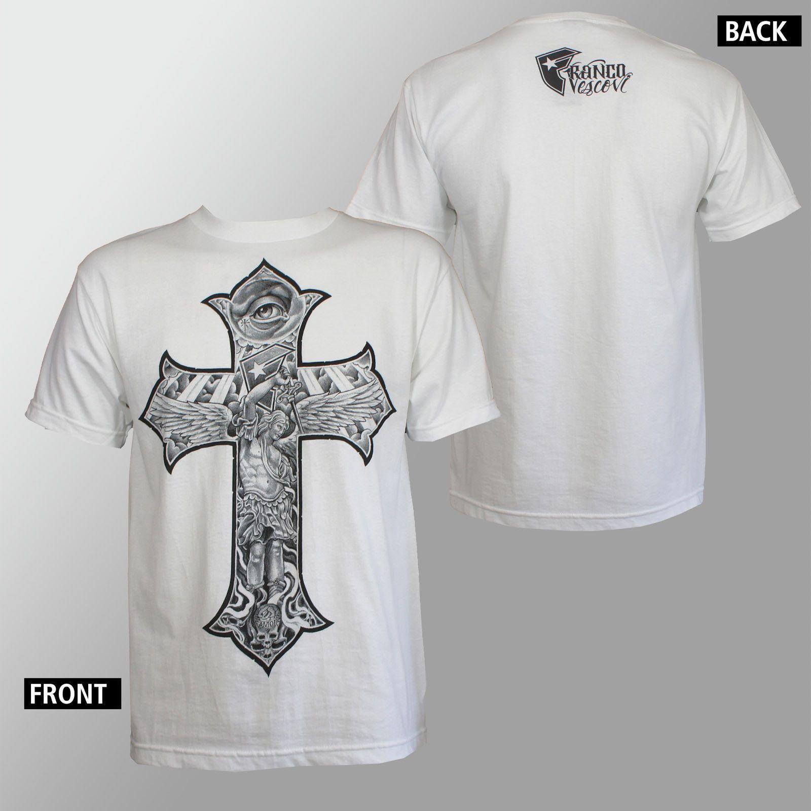 f24bcc5eb Famous Stars & Straps Franco Vescovi Tattoo Rise Above White T Shirt S 2Xl  New T Shirt Men Boy Custom Short Sleeve XXXL Couple Purchase T Shirts Silly  T ...