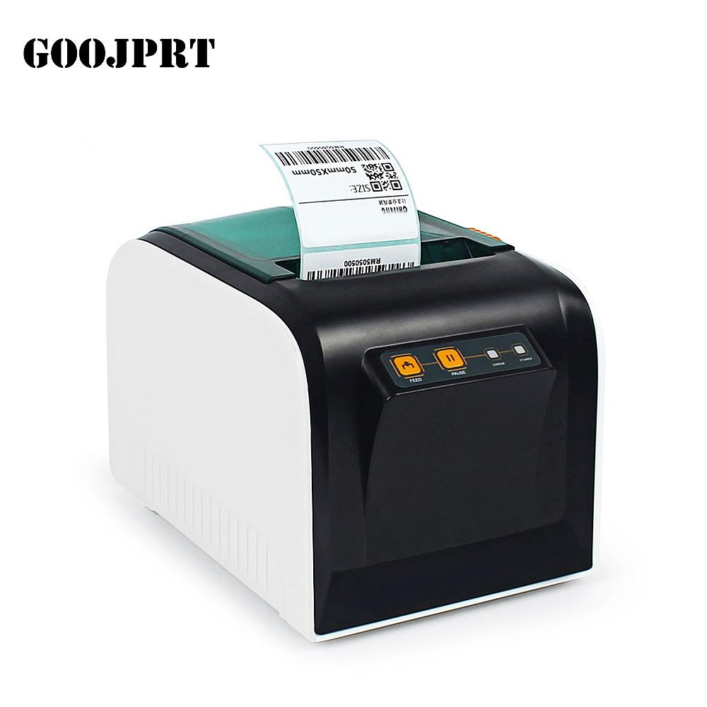 Goojprt thermal label printer 80mm sticker printing machine label maker with usb serial port 100mm s eu plug online printer online printers from lemfo