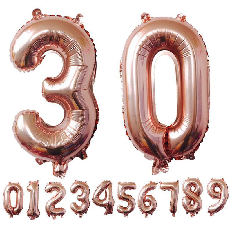 Výsledok vyhľadávania obrázkov pre dopyt Rose Gold Foil Number Balloons
