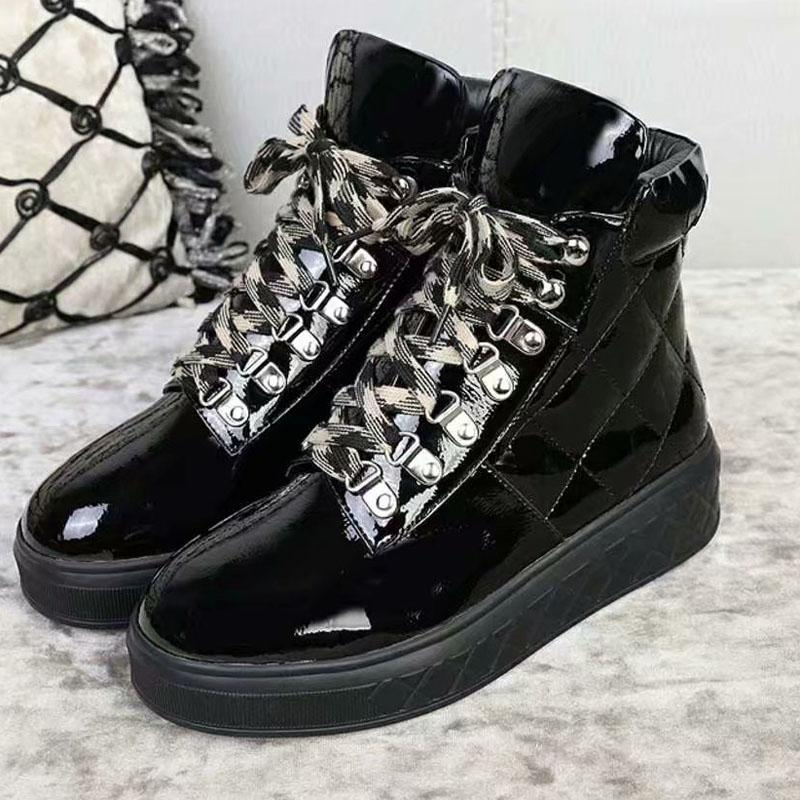 Women High Top Real Leather Boots shoes Sport Casual Girls
