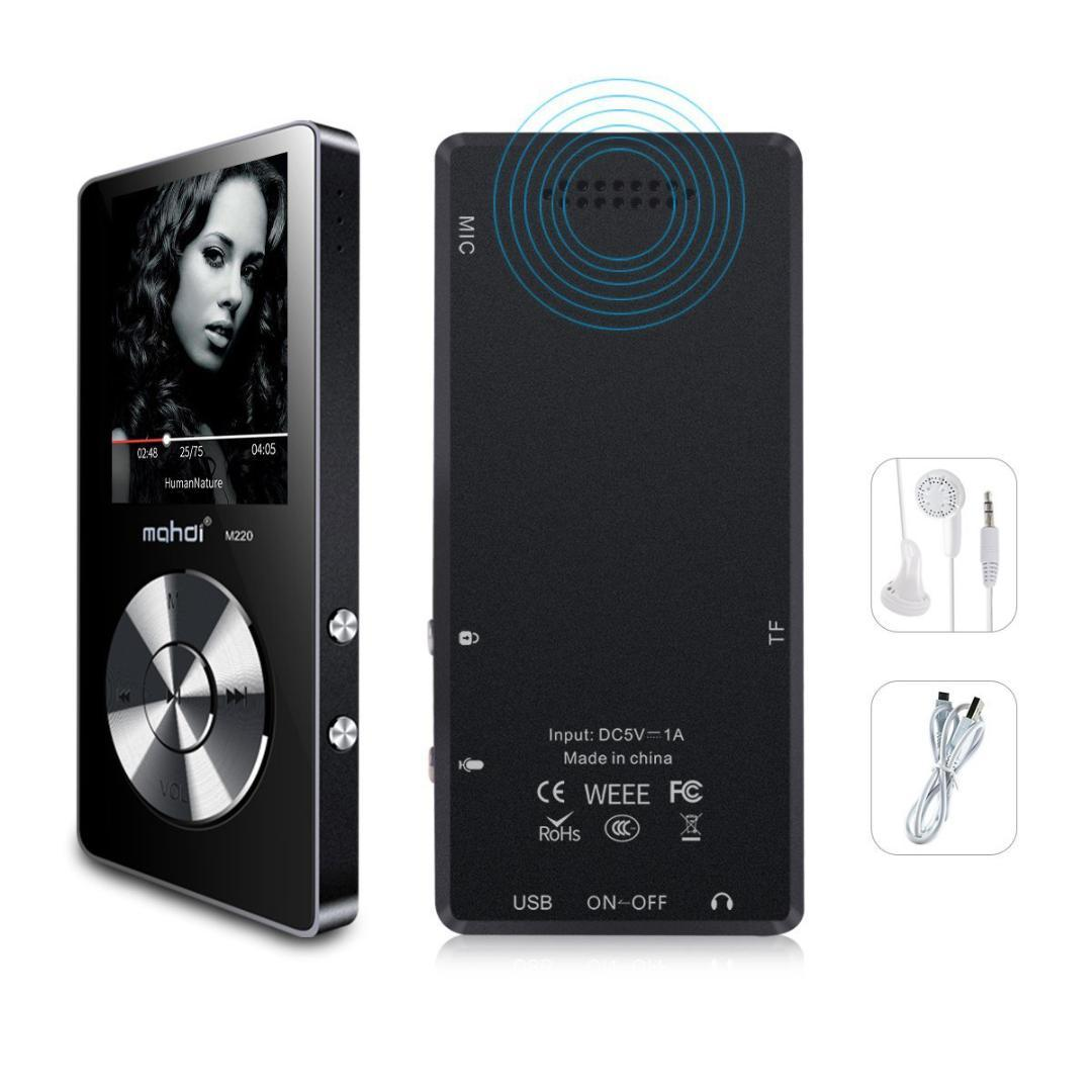 Unterhaltungselektronik schwarz Tragbares Audio & Video Original Metall Mp3 Player Verlustfreie Hifi Mp3 Musik Player Mit Hohe Qualität Sound Out Lautsprecher E-buch Fm Radio Uhr