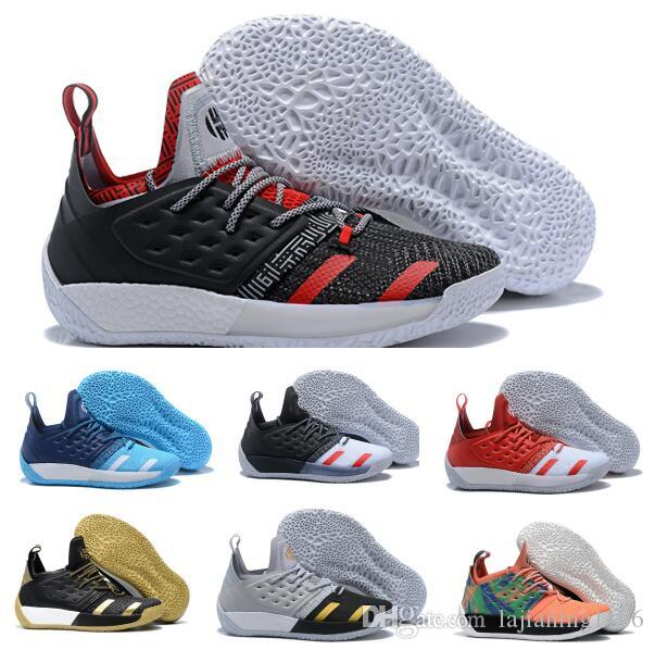 James Harden 2 Basketball Shoes Sneakers Men Gold NMD High Vol.2s II 3M  Tennis Trainers Athletic Man 2018 Hardens Shoe Size 40-46 Basketball Shoes  Men ...