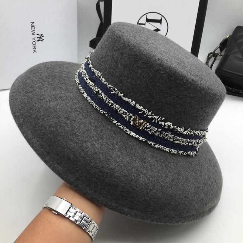 be7ac174ae717 Hat for Women Vintage Hat Woollen Flat Top Pot Fisherman Fashionable Bucket  Fedoras Cheap Fedoras Hat for Women Vintage Hat Woollen Hat Online with ...