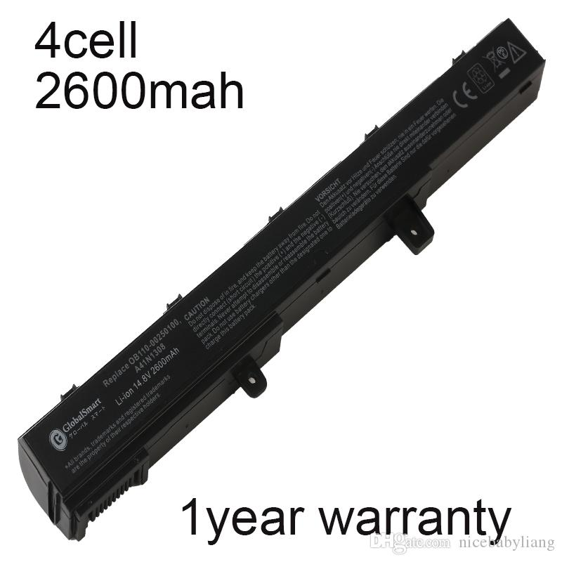 New 4 cell 2600mah laptop battery for asus D550MA X451M X551M A41N1308 F551MAV A31LJ91 A31N1319 X45LI9C