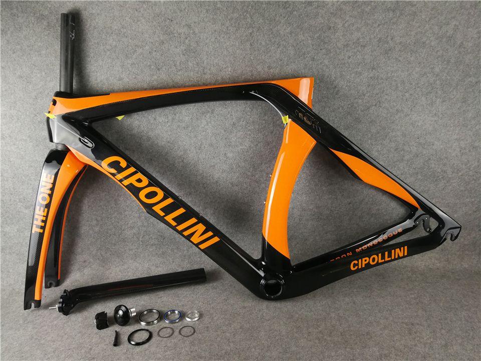 T1000 MCipollini RB1K THE ONE Orange Black carbon road frames Cipollini with BB86 3K/UD/1K Matte Glossy for selection