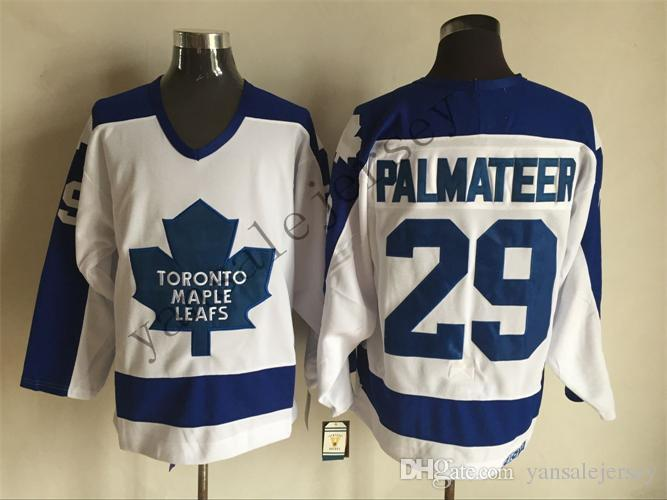 2018 Throwback Jersey Winter 29 Mike Palmateer Vintage Ice Hockey Jerseys  Green Blue White Stitched Vintage Jersey Throwback Jersey Stitched Jersey  Online ... eea98654c58