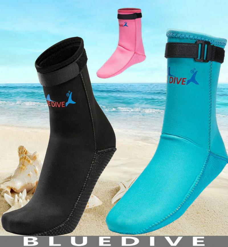 3mm Neoprene Snorkeling Shoes Scuba Diving Socks Beach Boots Wetsuit Prevent Scratches Warming Non-slip Swimming Seaside