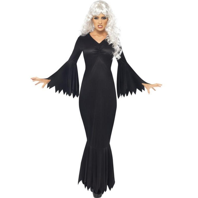 f68fe8bb8f1 Women Halloween Witch Dress Scary Horror New Costumes Plus Size 2XL Black  Play Ghost Clothes Strech Party Cosplay Long Dress V4 Group Halloween  Costumes ...