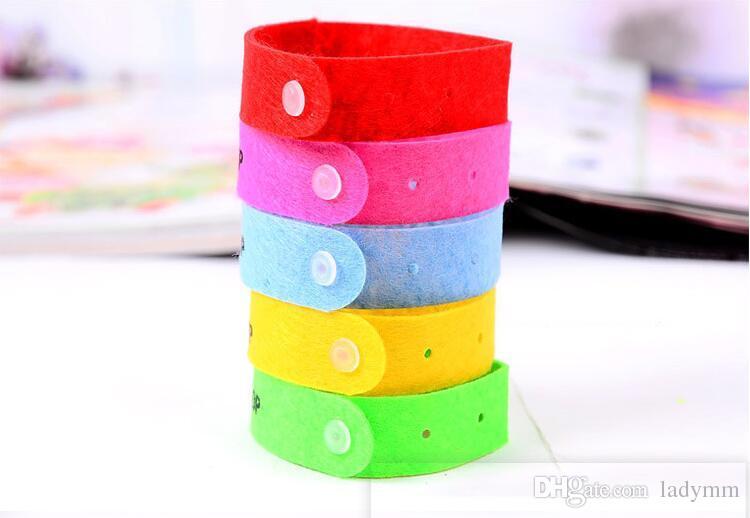 100 Teile / los Sommer Mückenschutz Band Armbänder Anti Mosquito Reine Natürliche Baby Armband Hand Ring