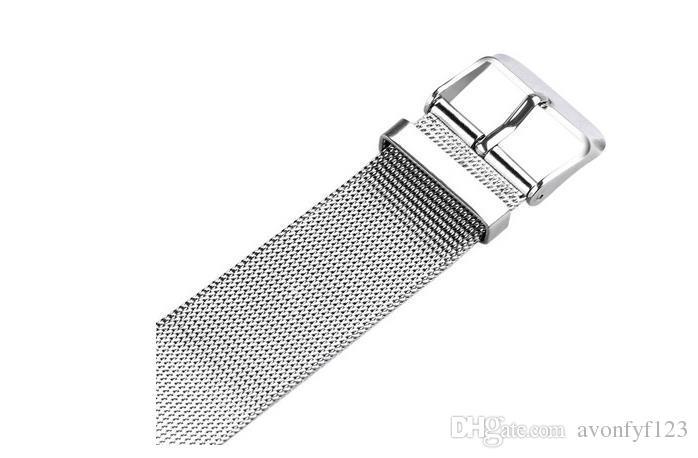 Marca de Moda Oco Música Nota Notação Relógio de Aço Inoxidável de Quartzo Relógio de Pulso Para Mulheres Dos Homens de Prata de Malha Relógios a568