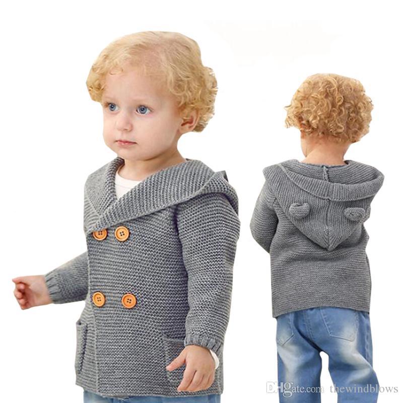 eef22005397f Newborn Baby Boy Clothes Baby Jacket Winter Fall Knitting Cardigan ...