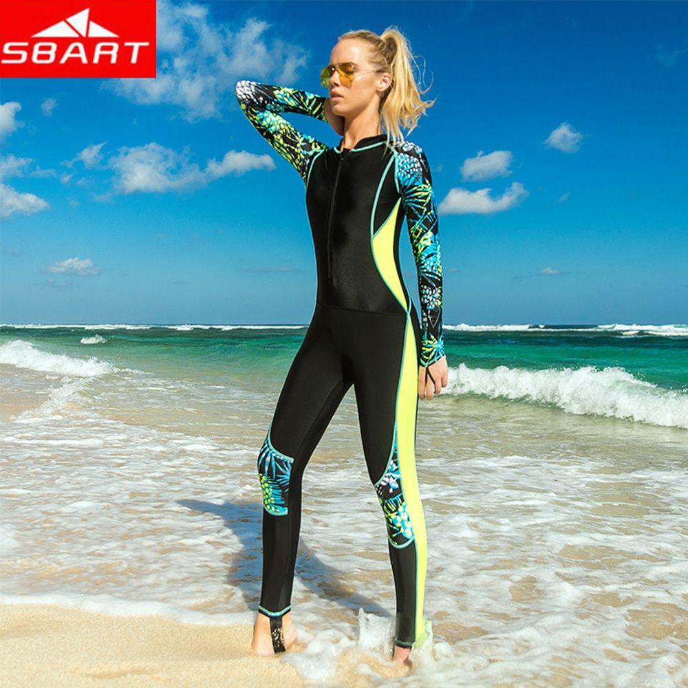 71936672f1 2019 SBART Summer Women Slim Wetsuits Women One Piece Swimwear Push Up  Female Surfing Diving Swimsuits Wetsuit Swimming Bodysuit From Yymq0404