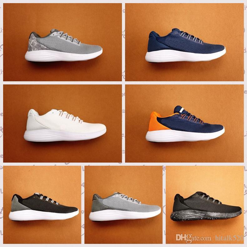 e5601dba9a8 2018 New Men Chaussures Hommes LunarConverge Running Shoes Black White Blue  Gray Breathable Lunar Sport Shoes Sneakers 40 45 Running Accessories  Running ...